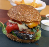 Veggie burger with vegetables Royalty Free Stock Photography