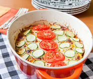 Veggie casserole dish Stock Photography