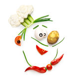 Veggie chef. Royalty Free Stock Images