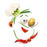 Veggie chef-kok Royalty-vrije Stock Afbeeldingen