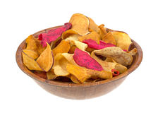 Veggie Chips In Bowl Side Royalty Free Stock Photos
