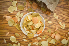 Veggie chips view from above Stock Photography