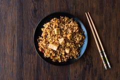 Veggie Fried Rice Rice med tofuen/Pilav eller pilaff Arkivbilder