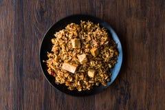 Veggie Fried Rice Rice med tofuen/Pilav eller pilaff Royaltyfria Foton