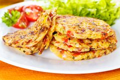 Veggie fritters Stock Photography