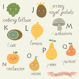 Veggie Fruit Alphabet Royalty Free Stock Photo