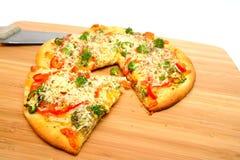 veggie gastronome de pizza Photos stock