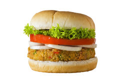 Veggie Geïsoleerdee Hamburger Royalty-vrije Stock Foto's