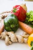 Veggie groenten op wit Royalty-vrije Stock Afbeelding