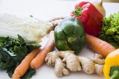 Veggie groenten op wit Royalty-vrije Stock Foto's