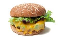 Veggie hamburger met gesmolten kaas Royalty-vrije Stock Afbeelding