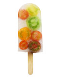 Veggie ice pop, colorful tomatoes Royalty Free Stock Photos