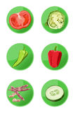 Veggie Icons Stock Photography