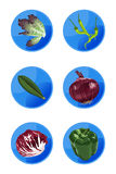 Veggie Icons Royalty Free Stock Image