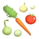 Veggie Ingrediënten Vector Illustratie