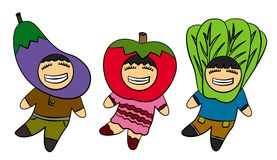 Veggie kids Stock Images