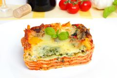 Veggie lasagna Royalty Free Stock Images