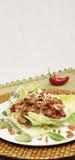 Veggie meat stir fry Stock Photo