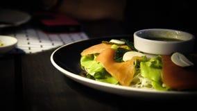 Veggie met zalm Stock Foto