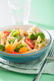 Veggie penne pasta with broccoli tomato carrot Royalty Free Stock Photography