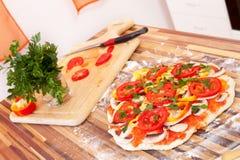 Veggie Pizza Stock Photo