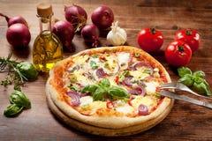 Veggie-Pizza Lizenzfreies Stockfoto
