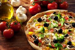 Veggie-Pizza Stockfotos