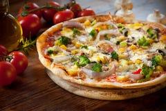 Veggie-Pizza Lizenzfreies Stockbild