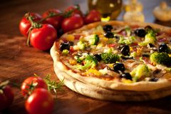 Veggie pizza fotografia royalty free