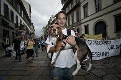 Veggie Pride held in Milan June 18, 2011 Stock Photos