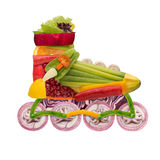 Veggie roller. Royalty Free Stock Images