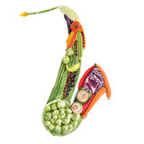 Veggie sax. Royalty Free Stock Photo