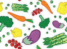 Veggie Seamless Pattern Stock Photos