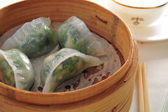 Veggie Shrimp Dumpling Stock Images