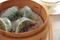 Veggie Shrimp Dumpling. Steam Dim Sum Veggie shrimp dumpling Stock Images