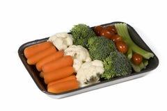 Veggie snack tray. On white background stock images