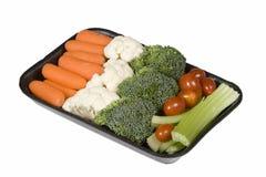 Veggie snack tray. On white background royalty free stock photos