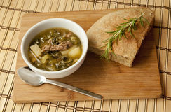 Veggie soep Stock Foto
