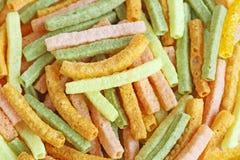 Veggie Straw Background Stock Foto's