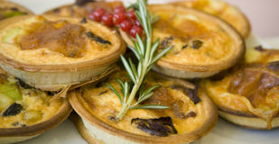 Veggie Tarts Royalty Free Stock Photography