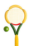 Veggie tennis federation. Stock Photo