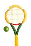 Veggie tennisfederatie. Stock Foto