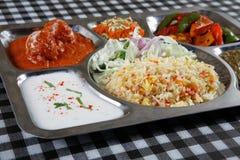 Veggie thali combo Stock Images