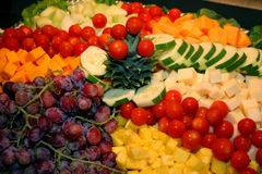 Veggie Tray. An assortment of colorful vegetables on a platter Stock Photography