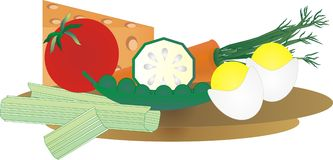 Veggie tray. Healthy vegetable tray with fresh veggies and dairy Stock Photo