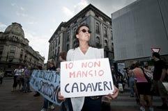 Veggie Trots die in Milaan 18 Juni, 2011 wordt gehouden Stock Afbeeldingen