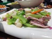 Veggie-und Fleisch-Platte lizenzfreie stockfotografie