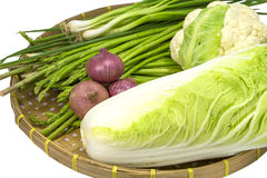 Veggie on wooden tray Royalty Free Stock Photography