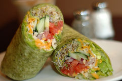 Veggie wrap royalty free stock photo