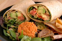 Veggie wrap Stock Photo